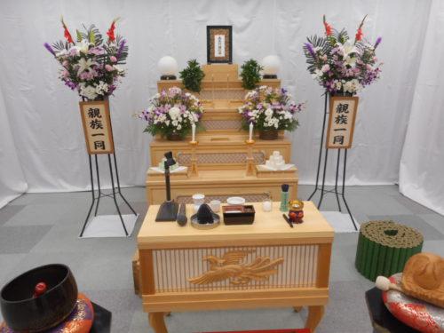家族葬プラン50 祭壇