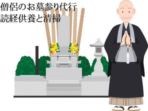 僧侶のお墓参り代行 読経供養 清掃